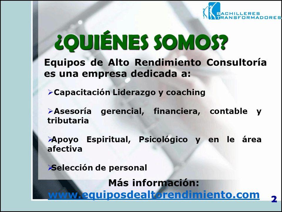 Más información: www.equiposdealtorendimiento.com