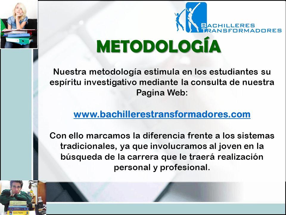 METODOLOGÍA www.bachillerestransformadores.com