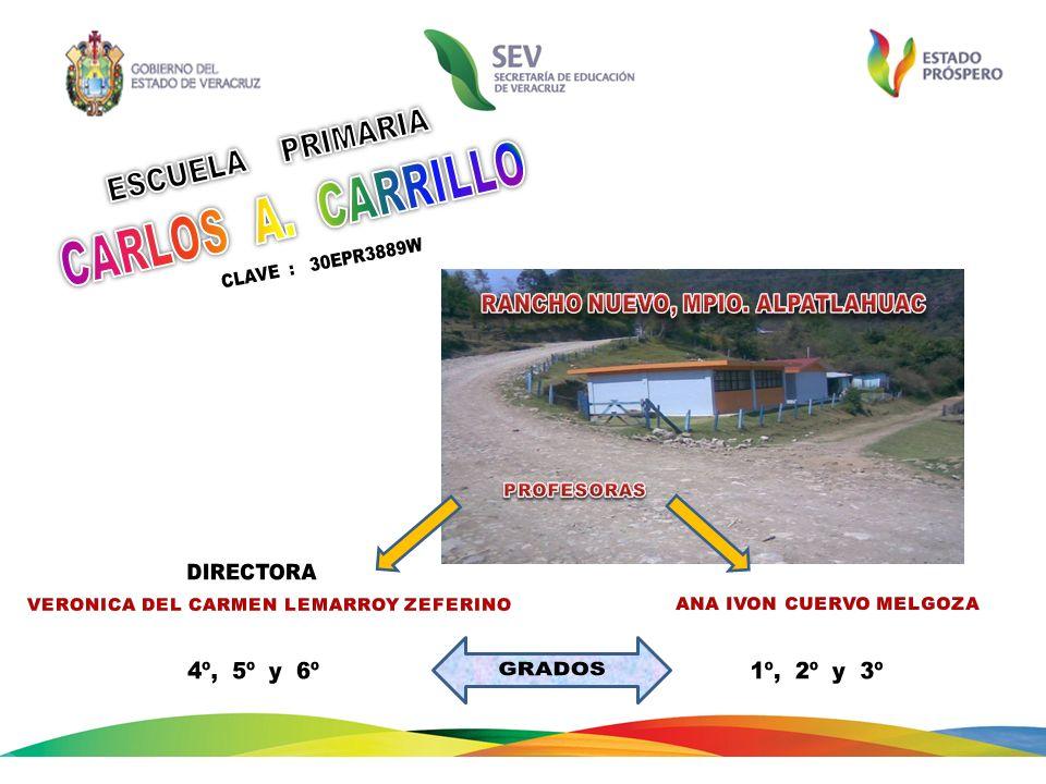ESCUELA PRIMARIA CARLOS A. CARRILLO CLAVE : 30EPR3889W
