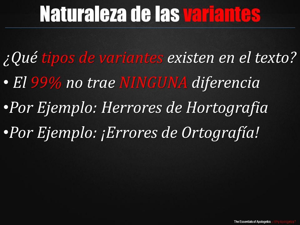 Naturaleza de las variantes