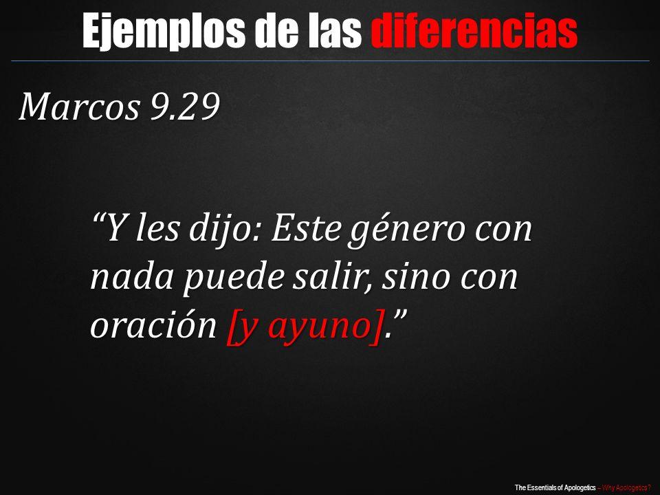 Ejemplos de las diferencias