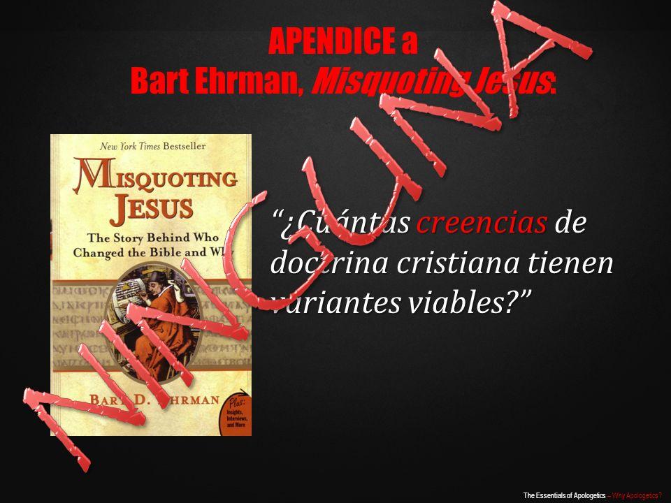 Bart Ehrman, Misquoting Jesus: