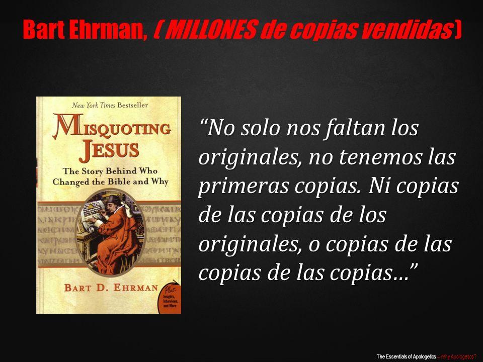 Bart Ehrman, ( MILLONES de copias vendidas )
