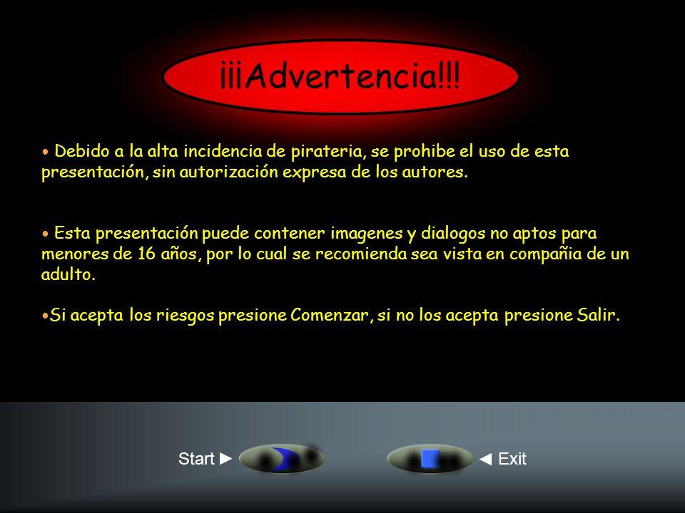 ¡¡¡Advertencia!!! Debido a la alta incidencia de pirateria, se prohibe el uso de esta presentación, sin autorización expresa de los autores.
