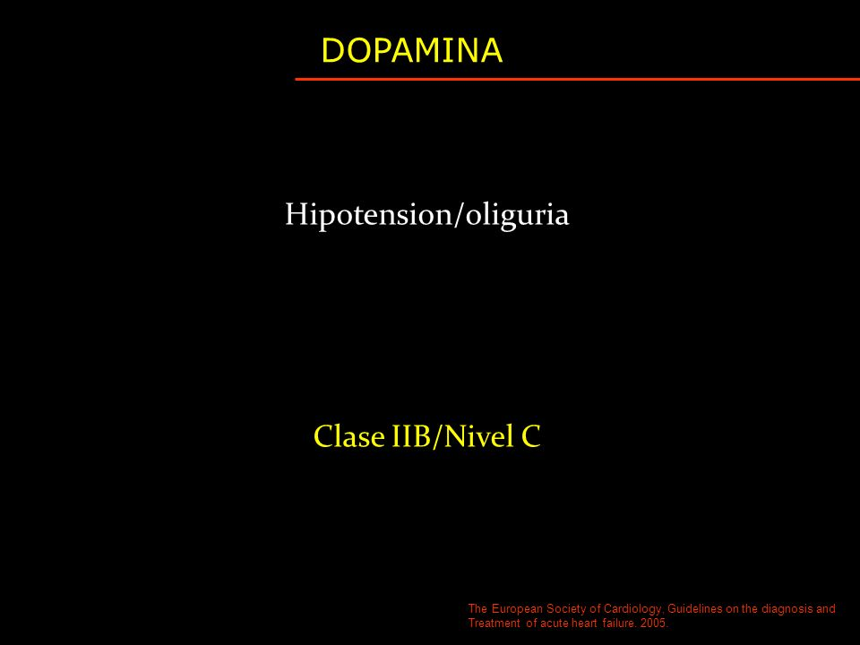Hipotension/oliguria