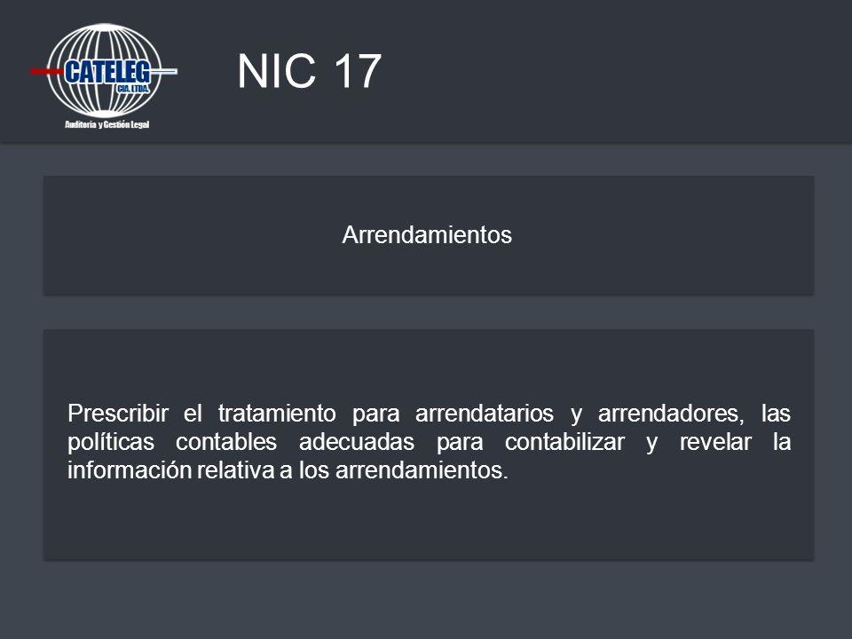 NIC 17 Arrendamientos.