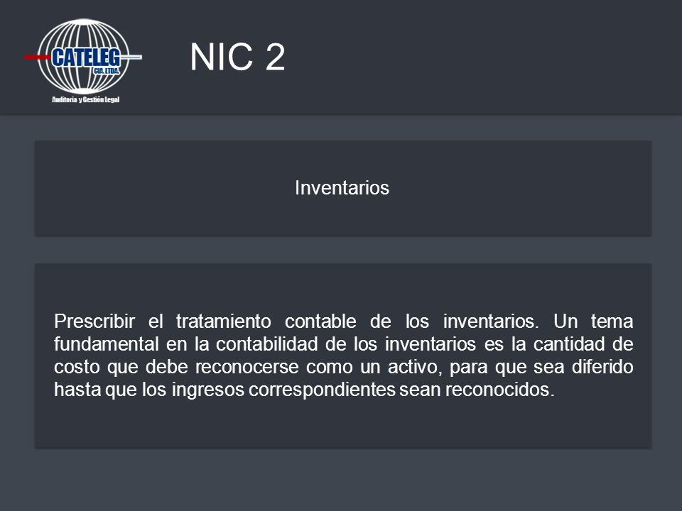 NIC 2 Inventarios.