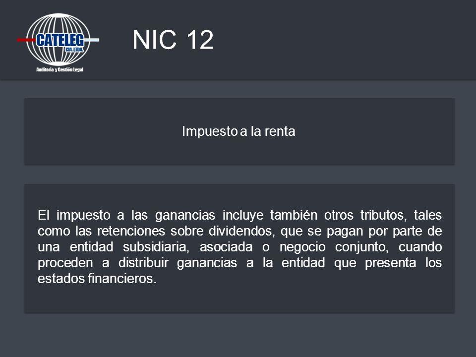 NIC 12 Impuesto a la renta.