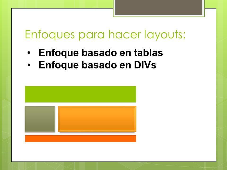 Enfoques para hacer layouts:
