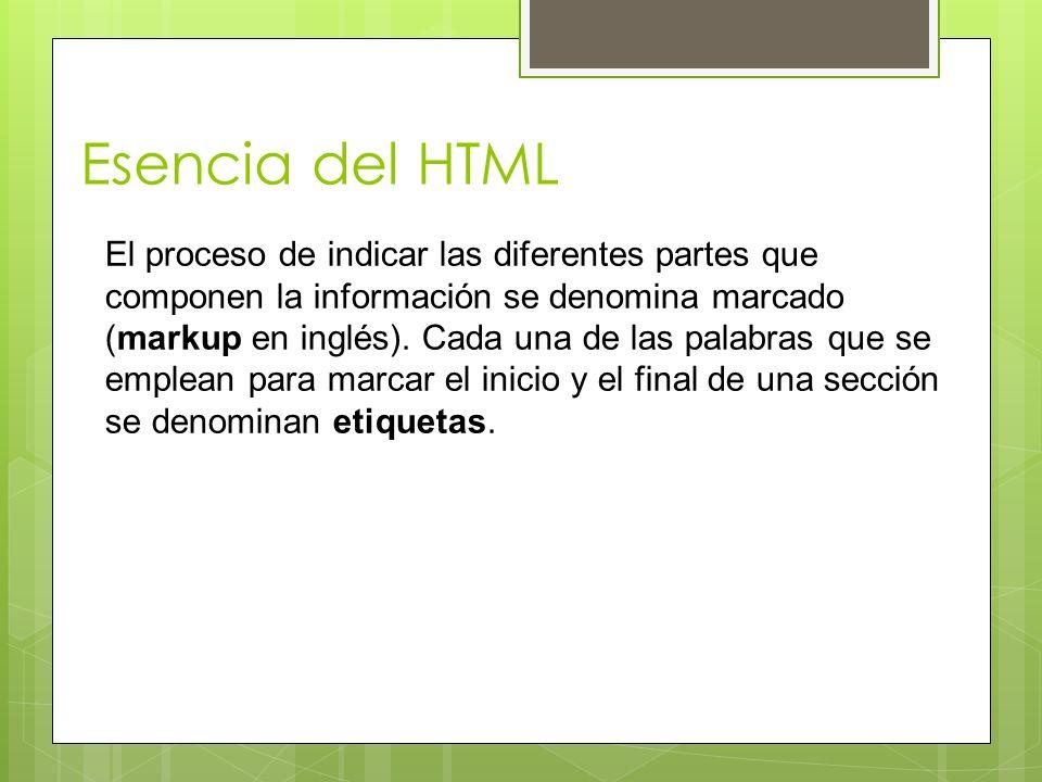 Esencia del HTML