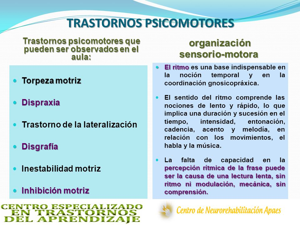 TRASTORNOS PSICOMOTORES
