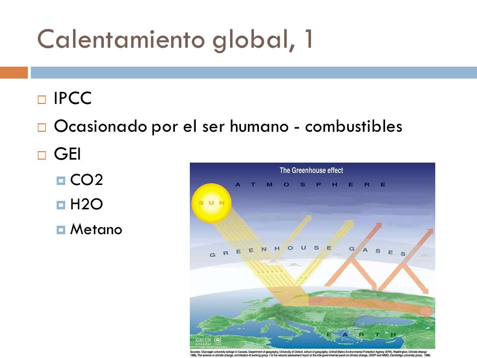 Calentamiento global, 1 IPCC