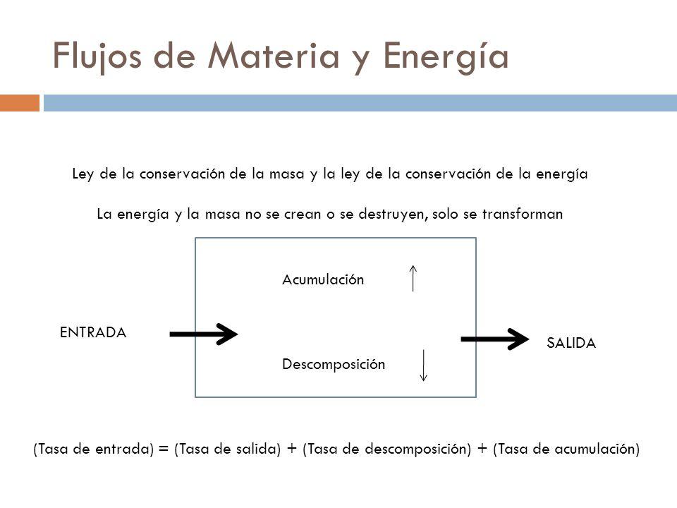 Flujos de Materia y Energía