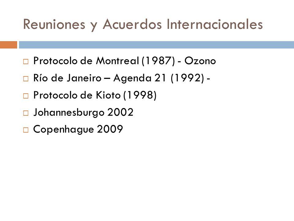 Reuniones y Acuerdos Internacionales