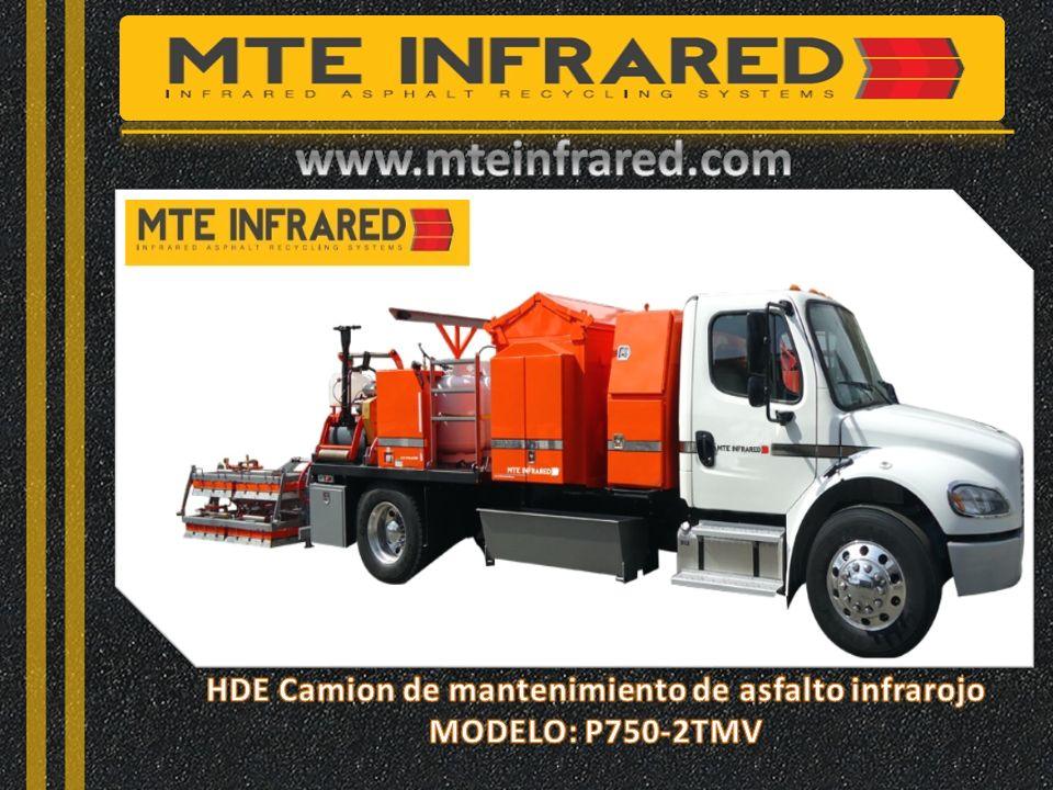 HDE Camion de mantenimiento de asfalto infrarojo