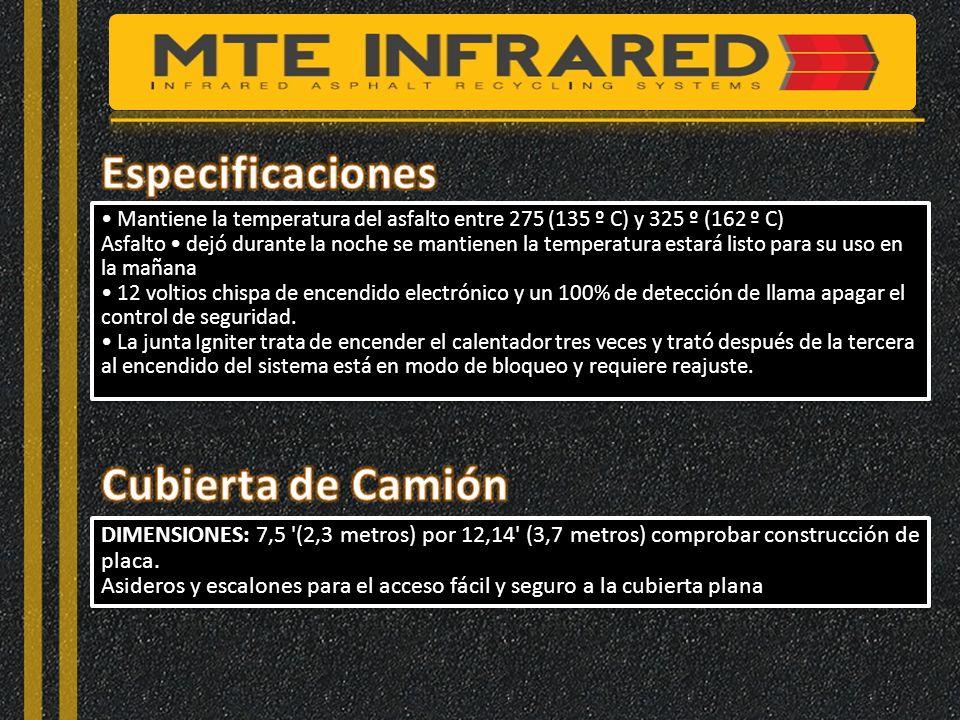 Especificaciones Cubierta de Camión