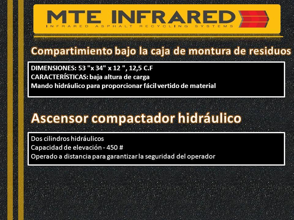 Ascensor compactador hidráulico