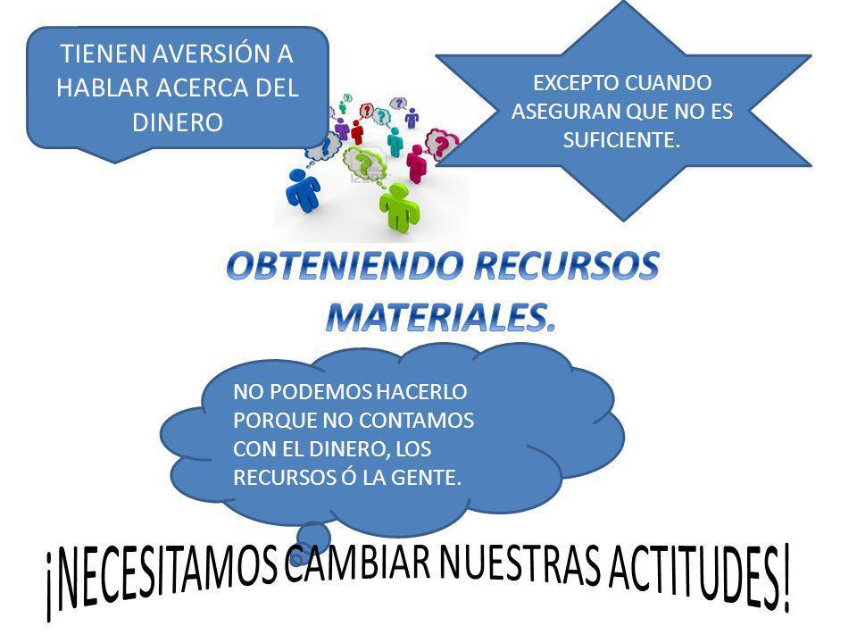 OBTENIENDO RECURSOS MATERIALES.