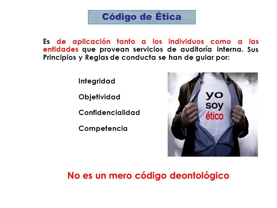 Código de Ética No es un mero código deontológico Es de aplicación