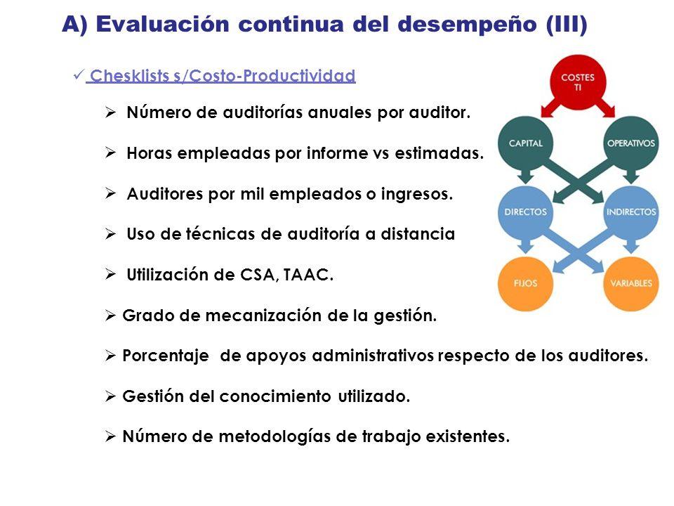 A) Evaluación continua del desempeño (III)