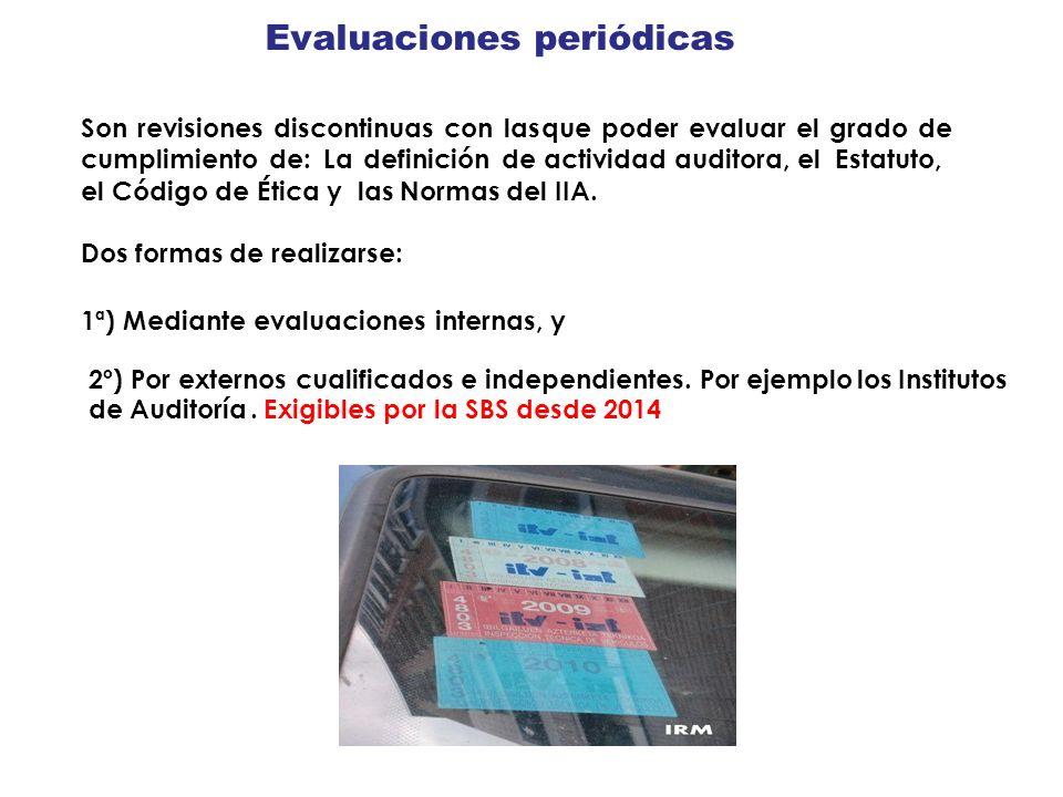 Evaluaciones periódicas