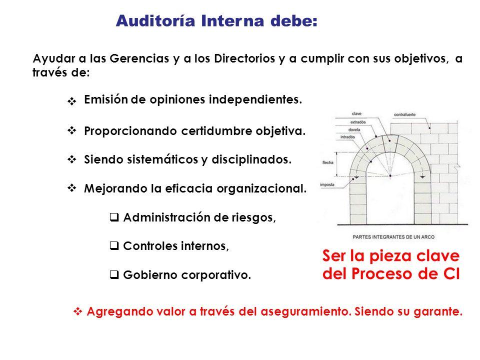 Auditoría Interna debe: