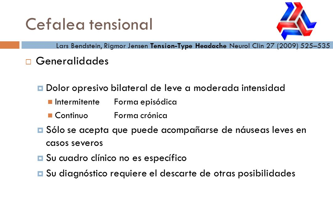 Cefalea tensional Generalidades