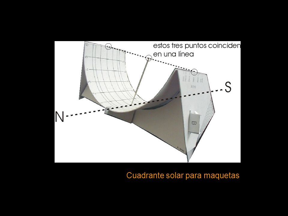 Cuadrante solar para maquetas