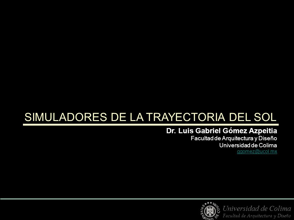 SIMULADORES DE LA TRAYECTORIA DEL SOL