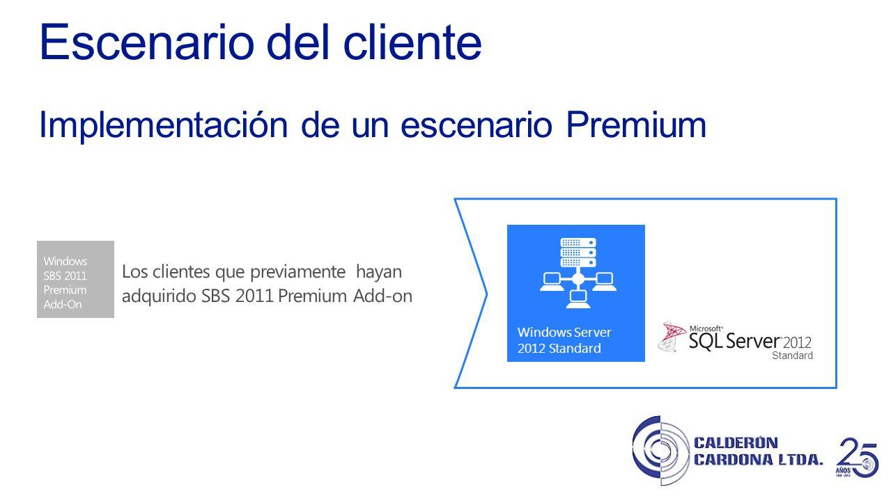 Escenario del cliente Implementación de un escenario Premium