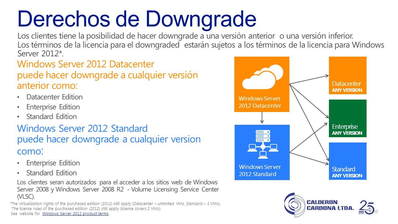 Derechos de Downgrade