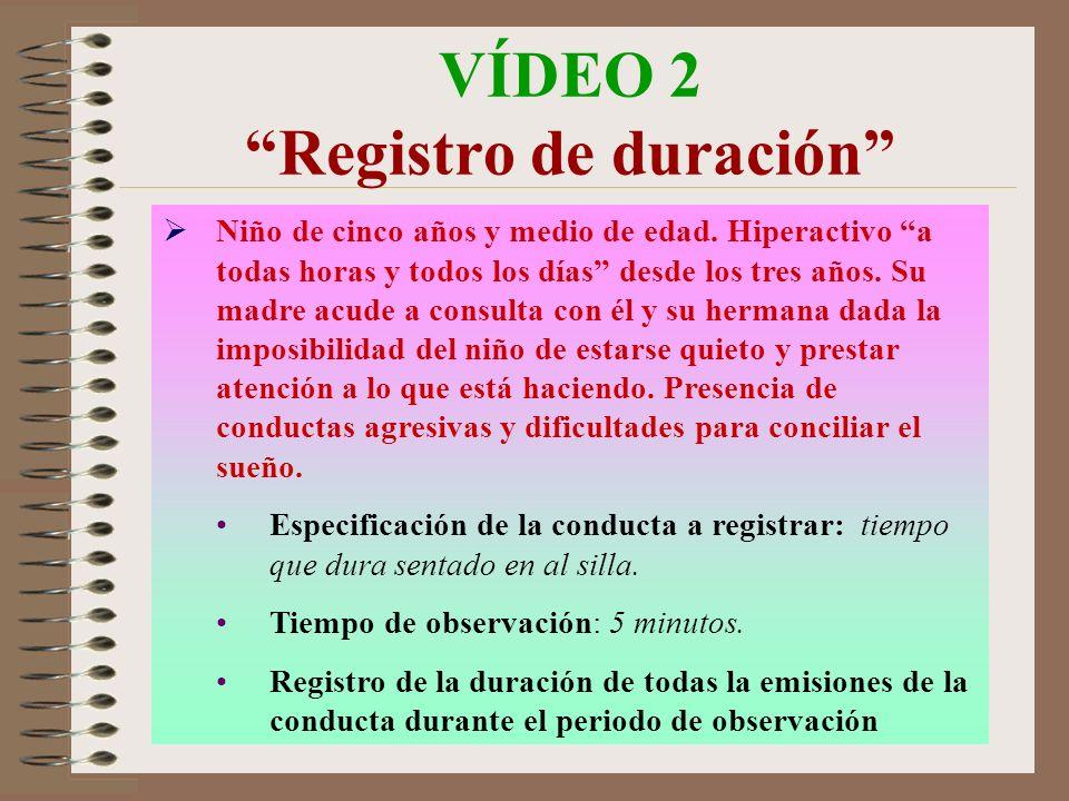 VÍDEO 2 Registro de duración