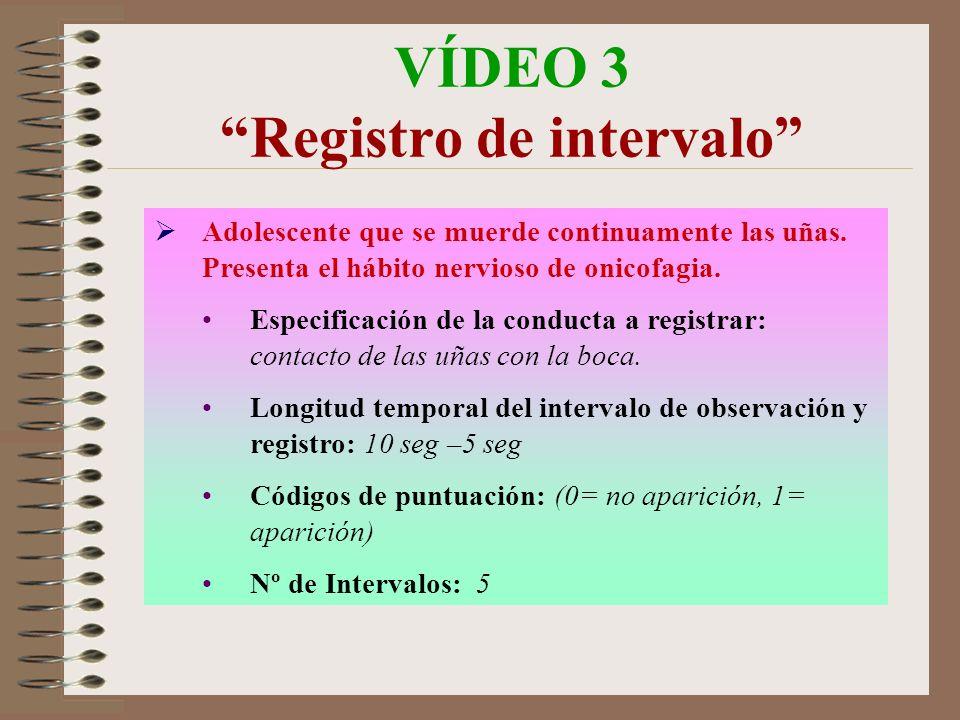 VÍDEO 3 Registro de intervalo