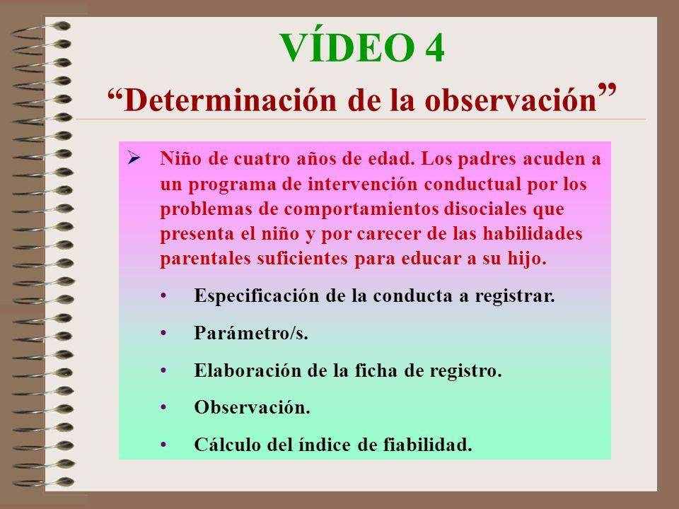 VÍDEO 4 Determinación de la observación