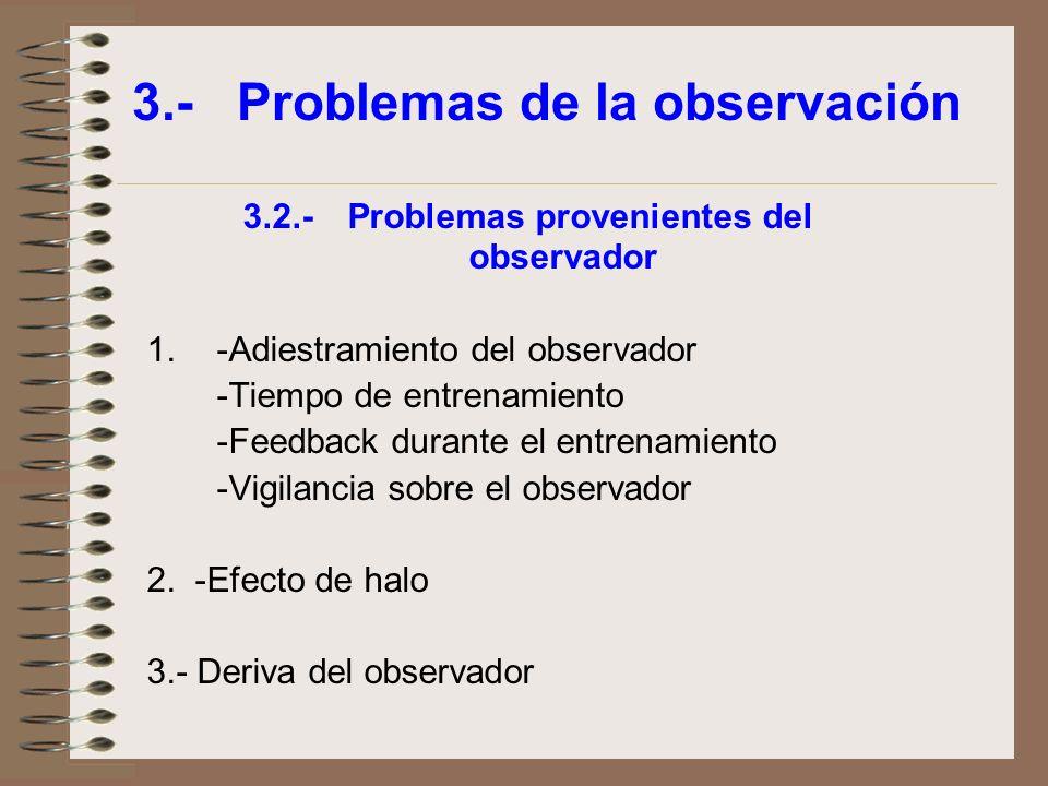 3.- Problemas de la observación