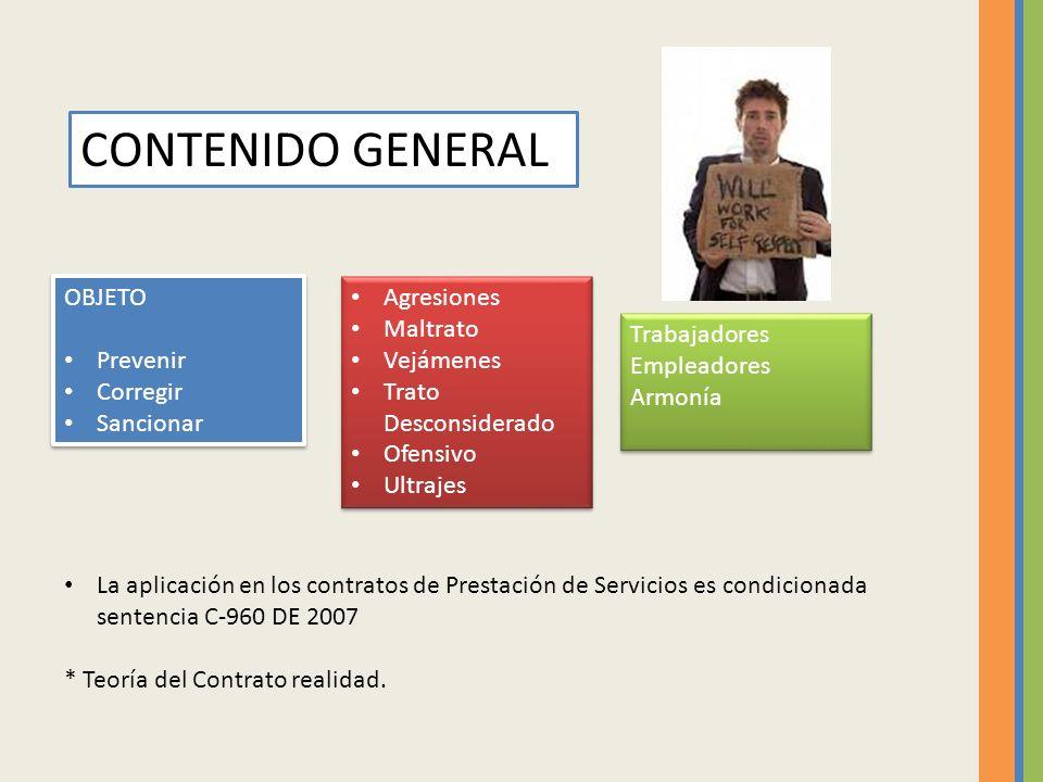 CONTENIDO GENERAL OBJETO Prevenir Corregir Sancionar Agresiones
