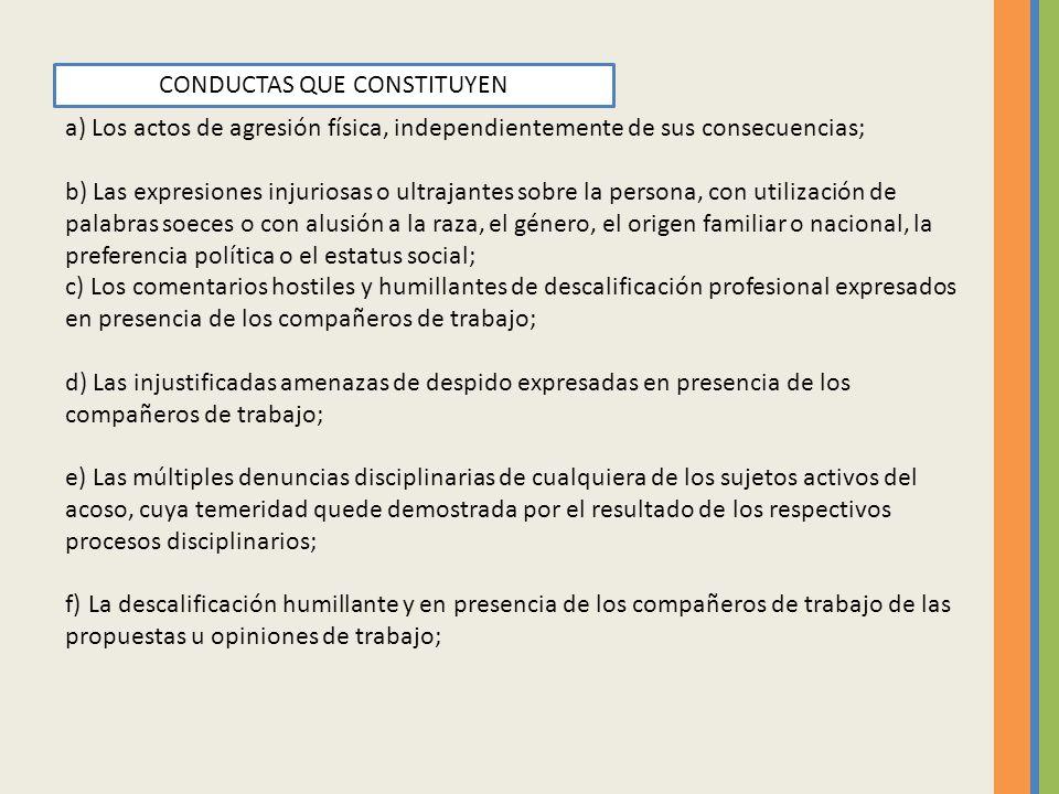 CONDUCTAS QUE CONSTITUYEN