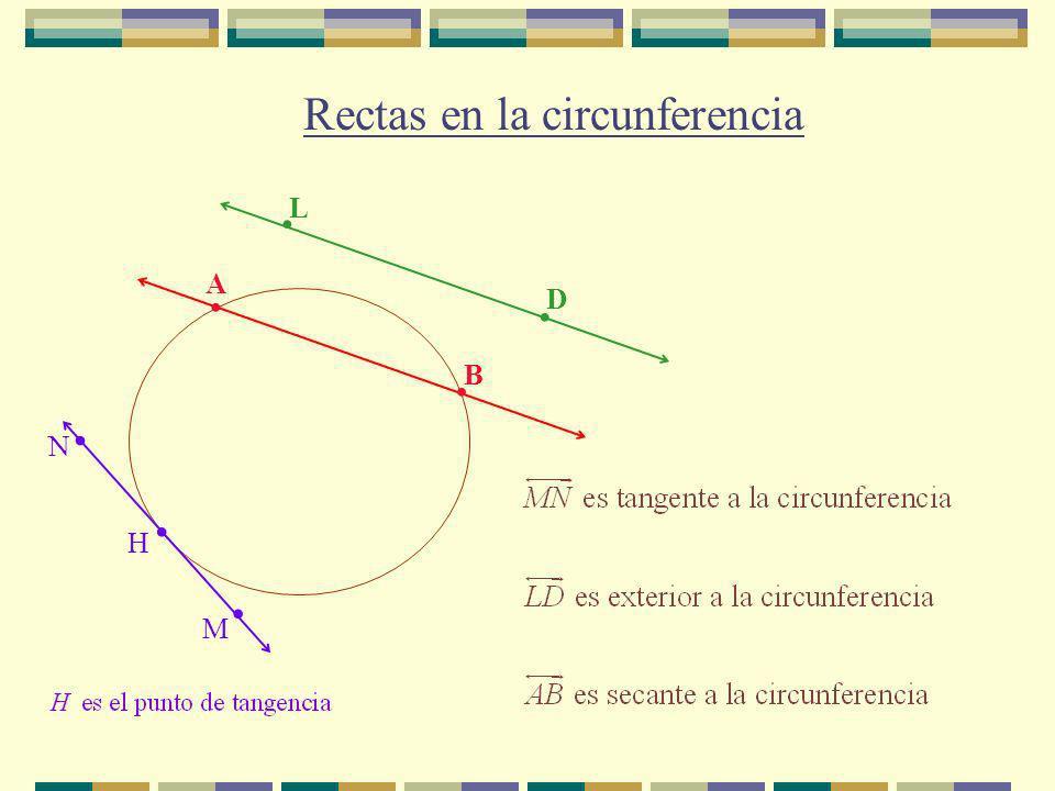Rectas en la circunferencia