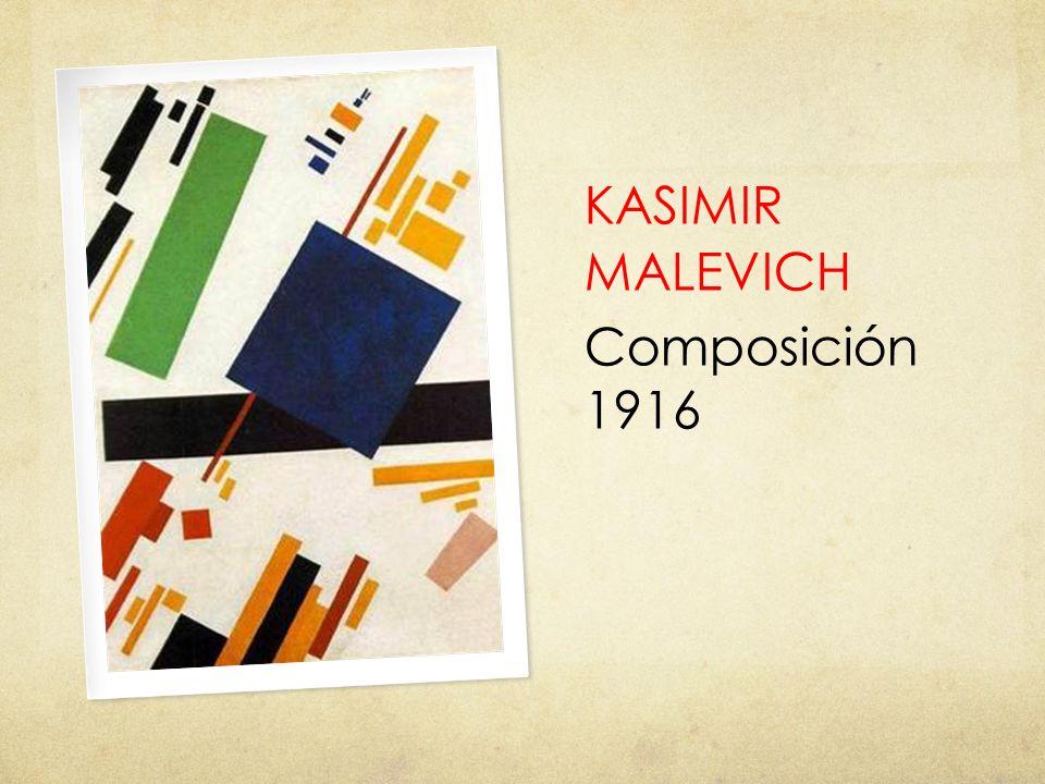 KASIMIR MALEVICH Composición 1916