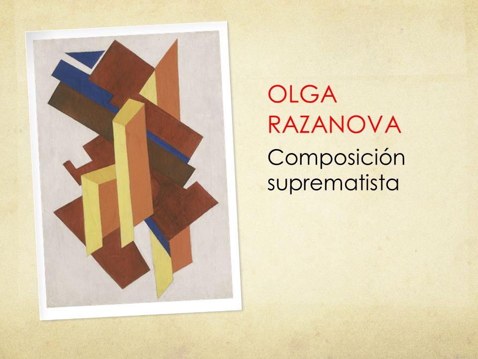 OLGA RAZANOVA Composición suprematista