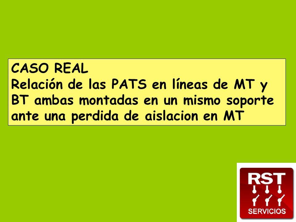 CASO REAL Relación de las PATS en líneas de MT y BT ambas montadas en un mismo soporte ante una perdida de aislacion en MT.