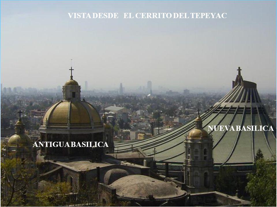 VISTA DESDE EL CERRITO DEL TEPEYAC NUEVA BASILICA ANTIGUA BASILICA