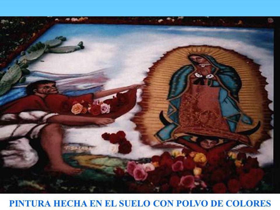 PINTURA HECHA EN EL SUELO CON POLVO DE COLORES