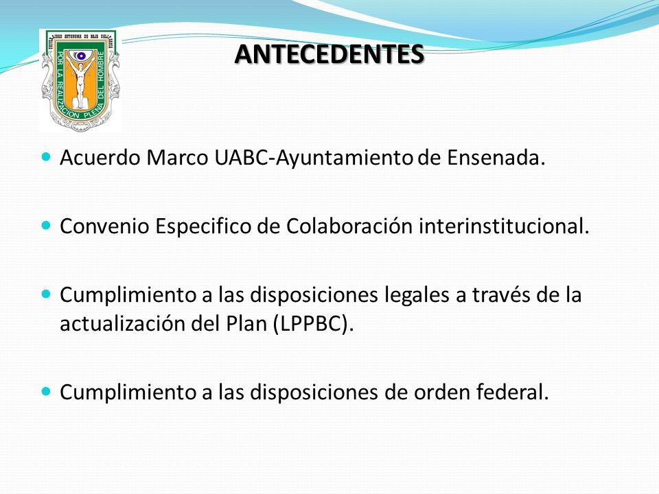 ANTECEDENTES Acuerdo Marco UABC-Ayuntamiento de Ensenada.