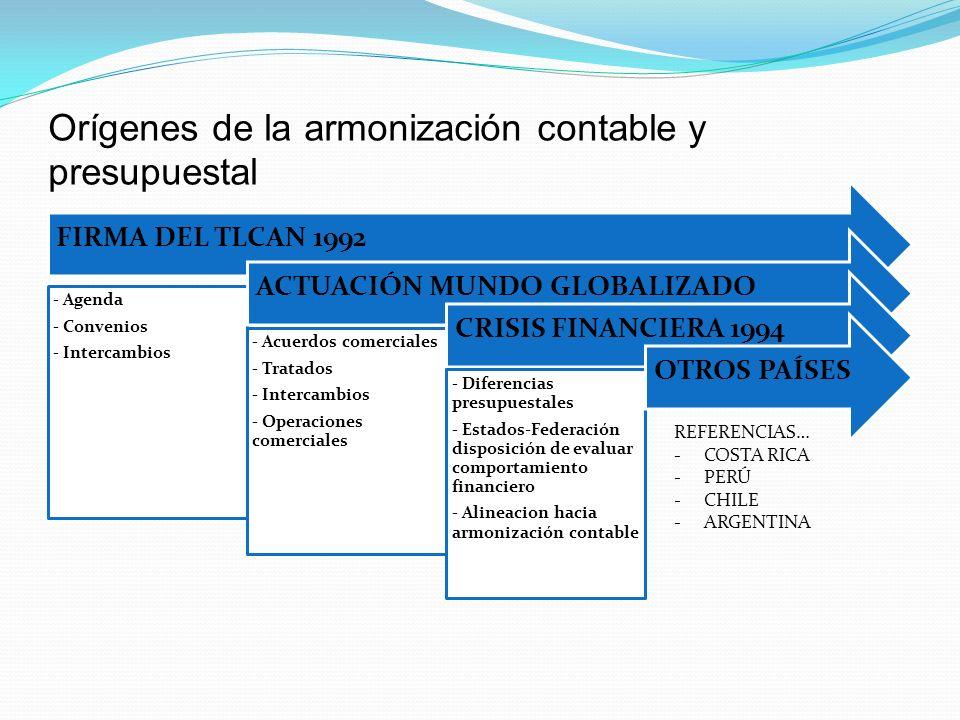 Orígenes de la armonización contable y presupuestal