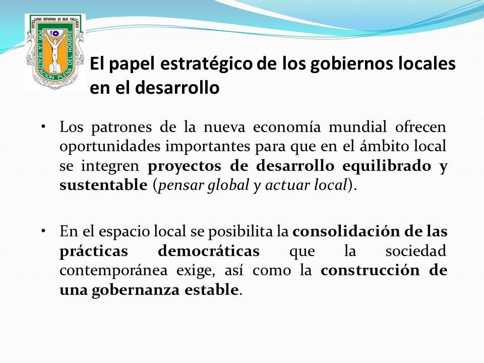 El papel estratégico de los gobiernos locales en el desarrollo