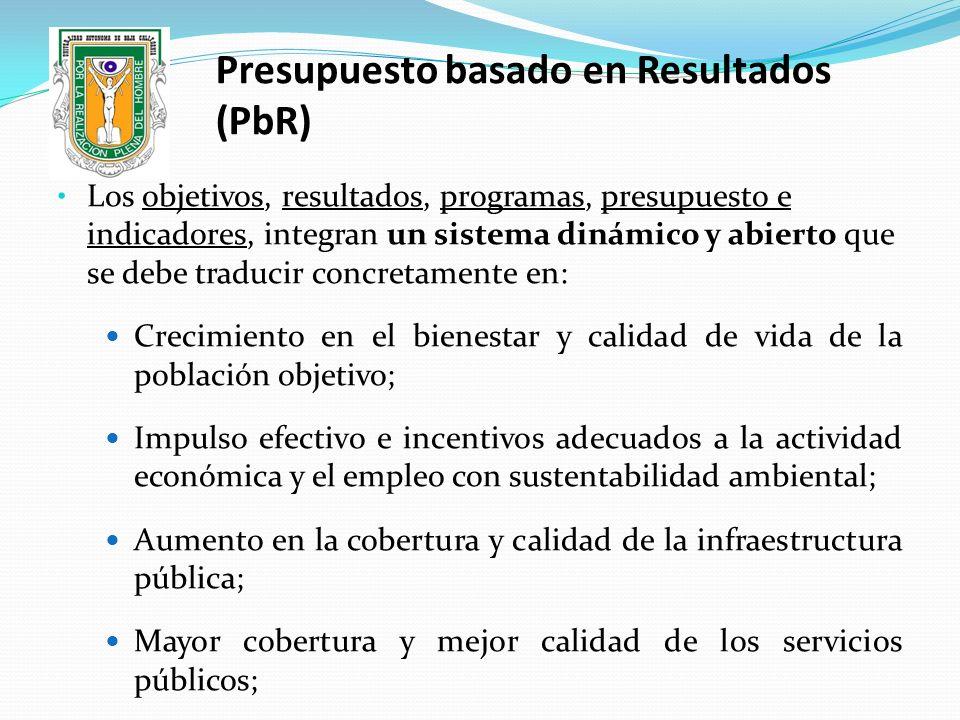 Presupuesto basado en Resultados (PbR)