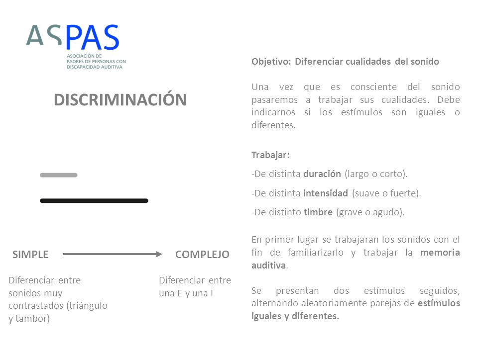 DISCRIMINACIÓN SIMPLE COMPLEJO