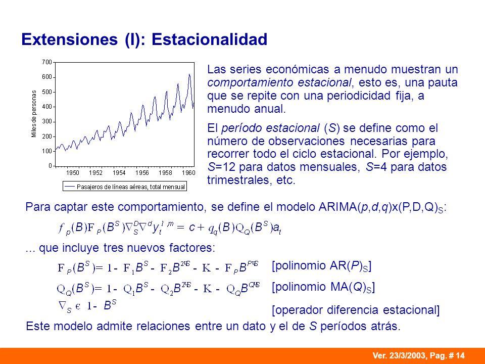 Extensiones (I): Estacionalidad