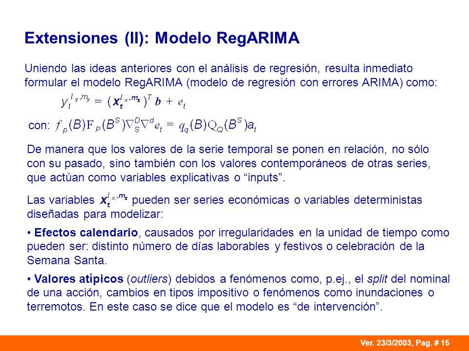 Extensiones (II): Modelo RegARIMA